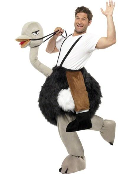 struisvogel pak kostuum