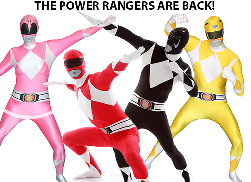 Tip! Power Rangers morphsuits